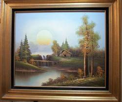 Oil on Canvas Nicely done by Ron Eastern 28 X 32  $239.00  www.vintageprintsandart.com