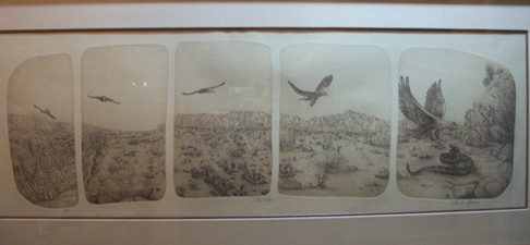 Outdoor Texas Print by  Brent Thorman Limited Edition Etching of